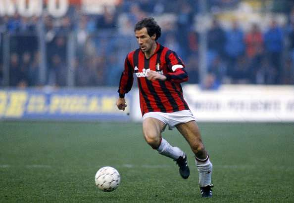 Baresi's entire football career was at AC Milan.