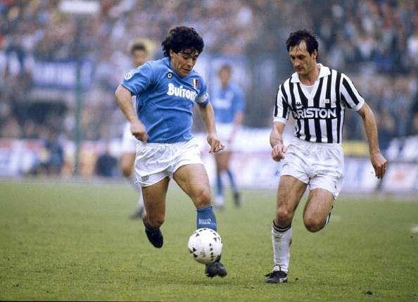 Maradona helped Napoli to two league titles