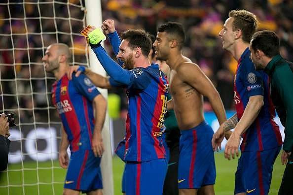 Video Lionel Messi Goes Nuts After Barcelona S Incredible 6 1 Victory Against Psg