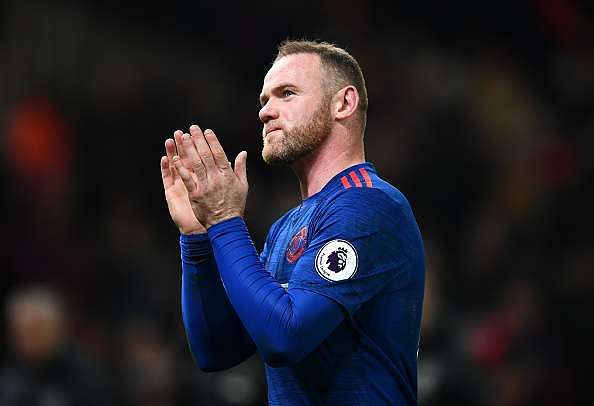 STOKE ON TRENT, ENGLAND - JANUARY 21:  Wayne Rooney of Manchester United shows appreciation to the fans after the Premier League match between Stoke City and Manchester United at Bet365 Stadium on January 21, 2017 in Stoke on Trent, England. Wayne Rooney scored his 250th goal for Manchester United in all competitions, which makes him the club