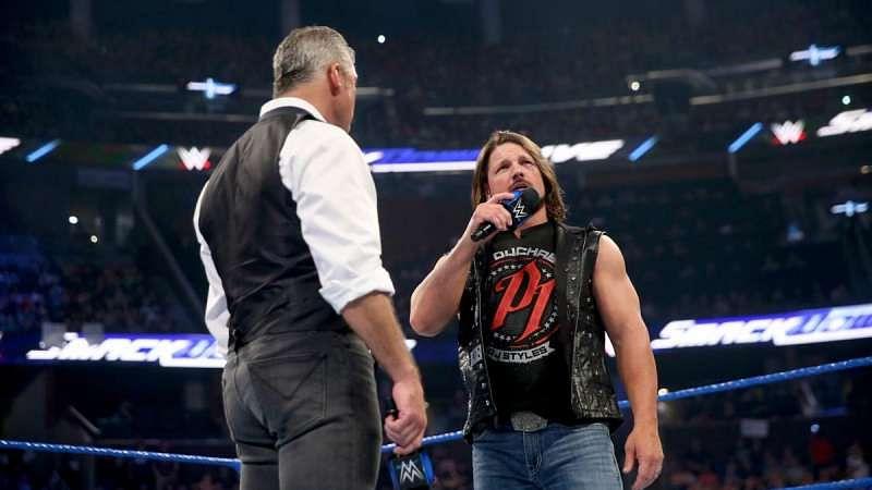 Shane McMahon and AJ Styles
