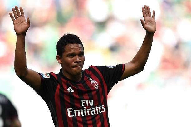 MILAN, ITALY - APRIL 09:  Carlos Bacca of Milan celebrates after scoring his team