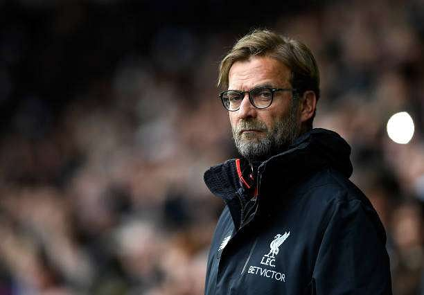 WEST BROMWICH, ENGLAND - APRIL 16: Jurgen Klopp, Manager of Liverpool looks on prior to the Premier League match between West Bromwich Albion and Liverpool at The Hawthorns on April 16, 2017 in West Bromwich, England.  (Photo by Stu Forster/Getty Images)