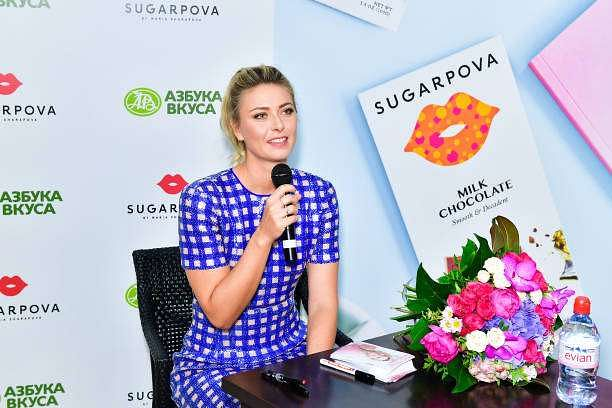 MOSCOW, RUSSIA - FEBRUARY 01: Maria Sharapova attends the Sugarpova launch in Moscow on February 1, 2017 in Moscow, Russia. (Photo by Victor Boyko/Getty Images)