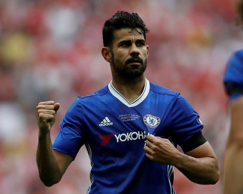 Britain Soccer Football - Arsenal v Chelsea - FA Cup Final - Wembley Stadium - 27/5/17 Chelsea's Diego Costa celebrates scoring their first goal Action Images via Reuters / Lee Smith