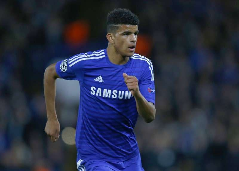 Dominic Solanke makes his debut for Chelsea during their Champions League Group G soccer match against Maribor at Stamford Bridge in London October 21, 2014. REUTERS/Eddie Keogh/Files