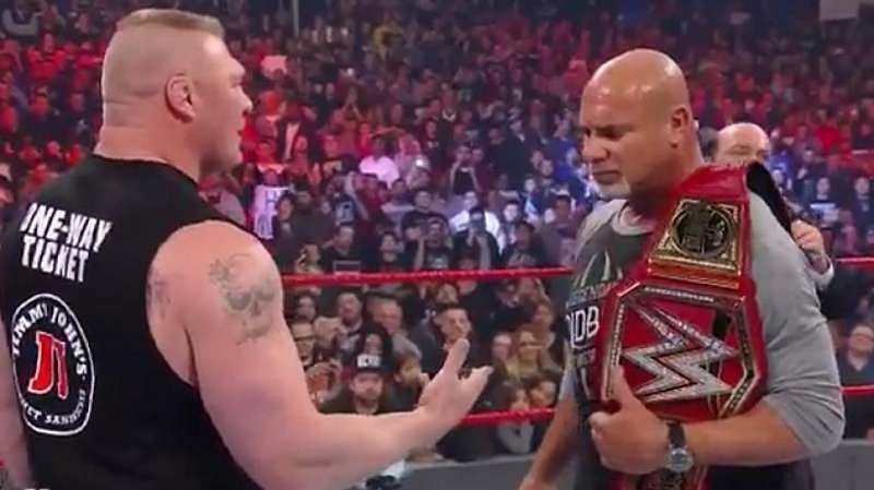 Goldberg bested Lesnar, but was defeated in the end