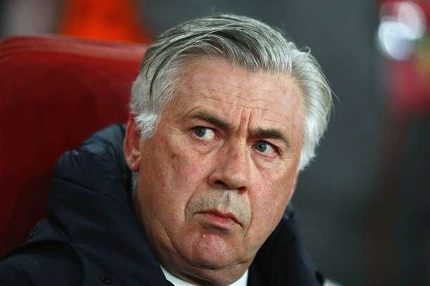 LONDON, ENGLAND - MARCH 07:  Carlo Ancelotti head coach of Bayern Muenchen looks on prior to the UEFA Champions League Round of 16 second leg match between Arsenal FC and FC Bayern Muenchen at Emirates Stadium on March 7, 2017 in London, United Kingdom.  (Photo by Clive Mason/Getty Images)