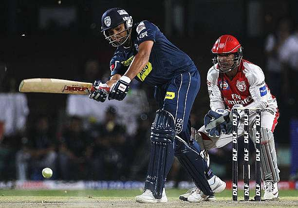 Rohit Sharma in action during IPL 2010
