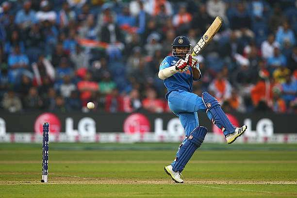 CARDIFF, WALES - JUNE 20:  Shikhar Dhawan of India pulls a shot behind square during the ICC Champions Trophy Semi-Final match between India and Sri Lanka at the SWALEC Stadium on June 20, 2013 in Cardiff, Wales.  (Photo by Michael Steele/Getty Images)