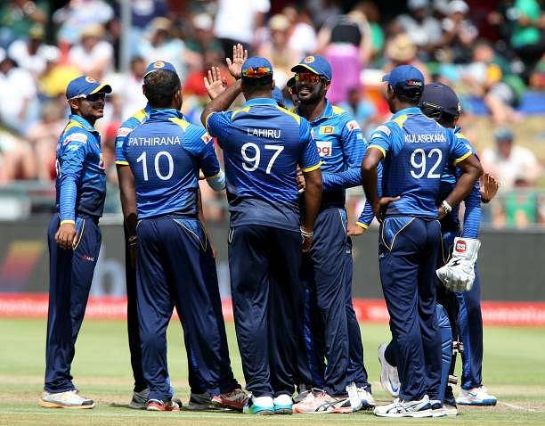 CAPE TOWN, SOUTH AFRICA - FEBRUARY 07: Sri Lanka celebrates during the 4th ODI between South Africa and Sri Lanka at PPC Newlands on February 07, 2017 in Cape Town, South Africa. (Photo by Carl Fourie/Gallo Images/Getty Images)
