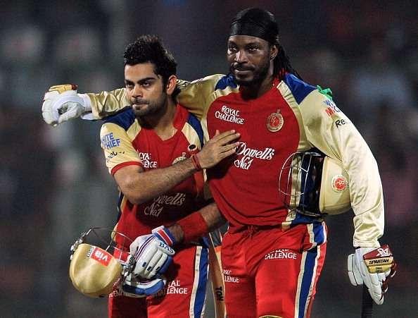 Virat Kohli Chris Gayle IPL RCB Cricket