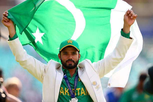 LONDON, ENGLAND - JUNE 18:  Azhar Ali of Pakistan looks on after Pakistan win the ICC Champions trophy cricket match between India and Pakistan at The Oval in London on June 18, 2017  (Photo by Clive Rose/Getty Images)