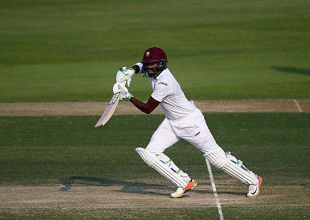 ABU DHABI, UNITED ARAB EMIRATES - OCTOBER 22: Darren Bravo of West Indies bats during Day Two of the Second Test between Pakistan and West Indies at Zayed Cricket Stadium on October 22, 2016 in Abu Dhabi, United Arab Emirates.  (Photo by Francois Nel/Getty Images)
