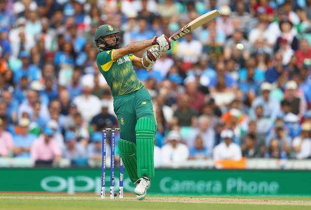 LONDON, ENGLAND - JUNE 11:  Hashim Amla of South Africa in action during the ICC Champions trophy cricket match between India and South Africa at The Oval in London on June 11, 2017  (Photo by Clive Rose/Getty Images)