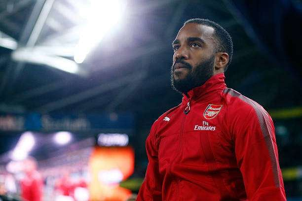 SYDNEY, AUSTRALIA - JULY 15:  Alexandre Lacazette of Arsenal enters the field of play during the match between the Western Sydney Wanderers and Arsenal FC at ANZ Stadium on July 15, 2017 in Sydney, Australia.  (Photo by Zak Kaczmarek/Getty Images)