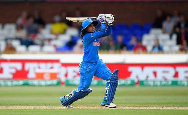 DERBY, ENGLAND - JULY 05:  Mithali Raj of India bats during the ICC Women