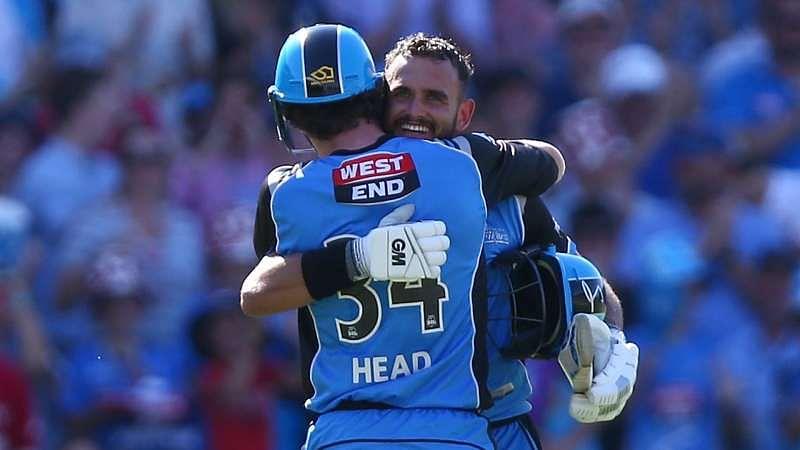Travis Head embraces Jake Weatherald