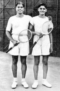Ramanathan Krishnan with his father T.K. Ramanathan - Three generations of the family have had the love affair with Tennis